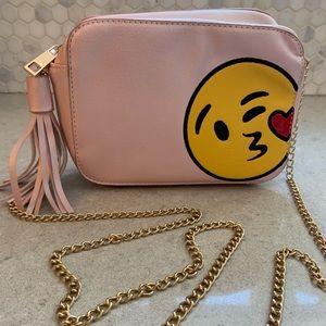 Olivia Miller Pink emoji bag w/chain strap NWOT